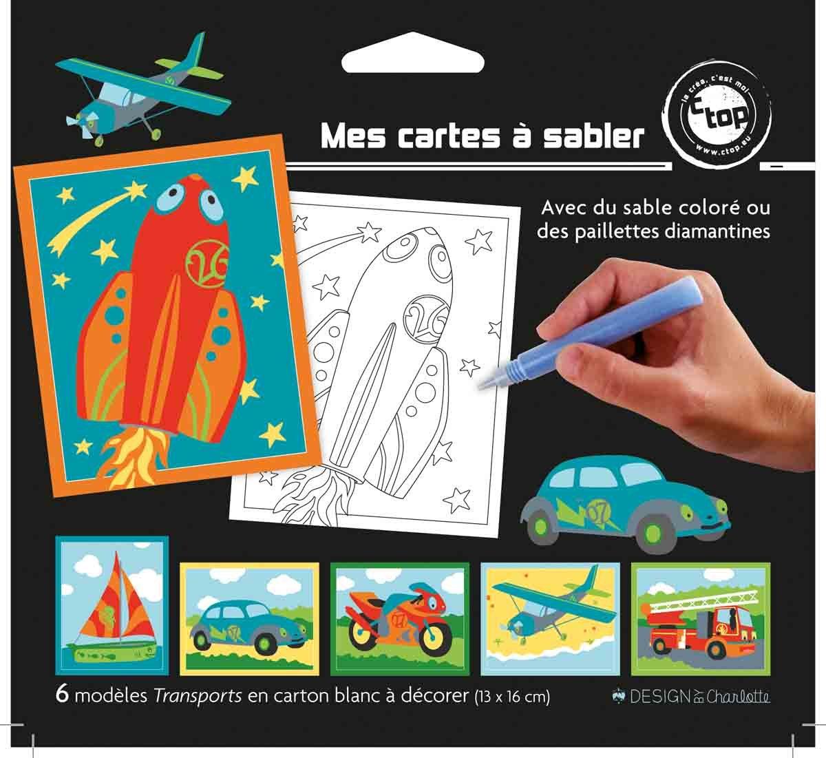 MegaCrea DIY Cartes Sable ou pailleter 13 x 16 cm transports x 6 pi/èces