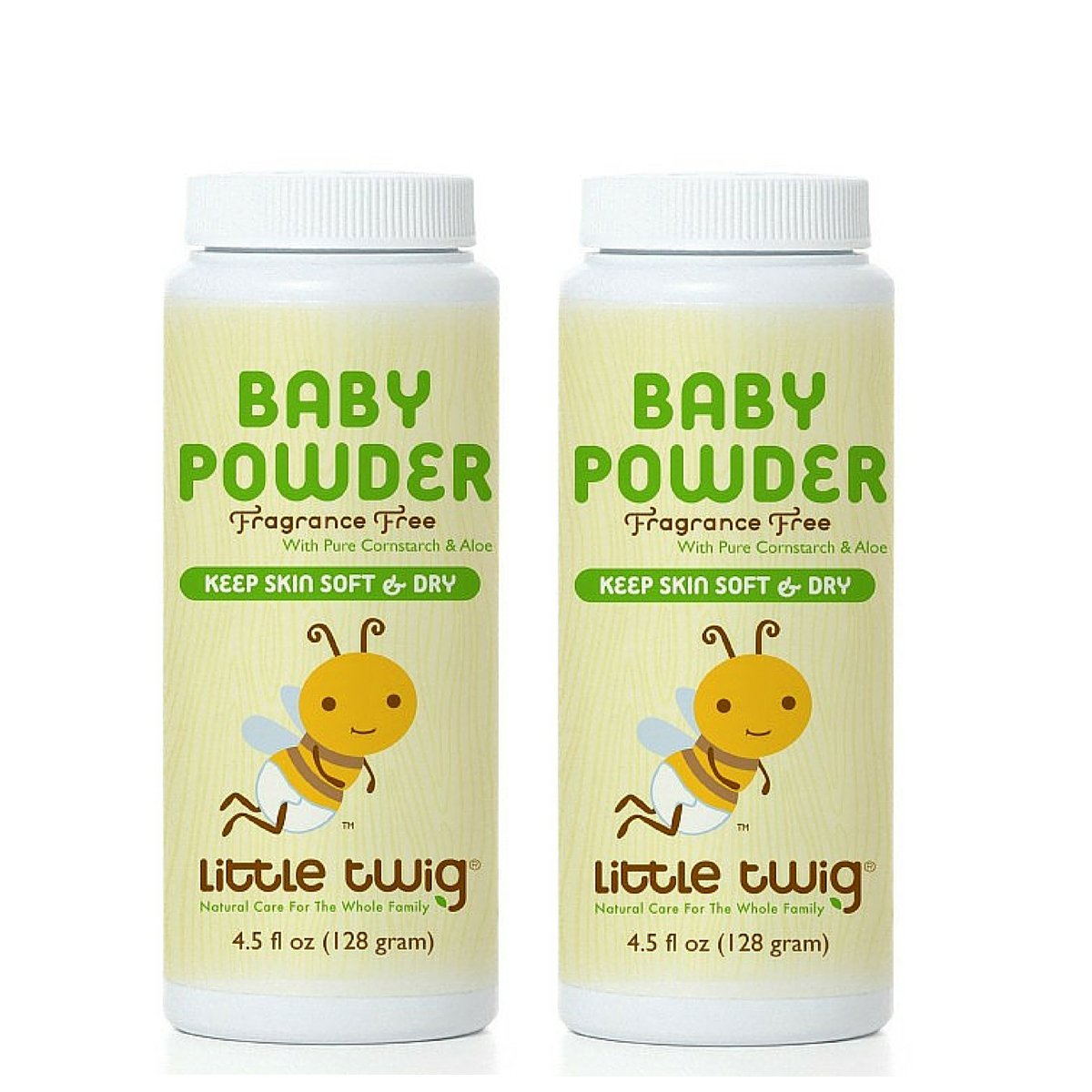 Little Twig Baby Powder 100% Talc Free with Natural Ingredients , 4.5 fl. oz. (Pack of 2)
