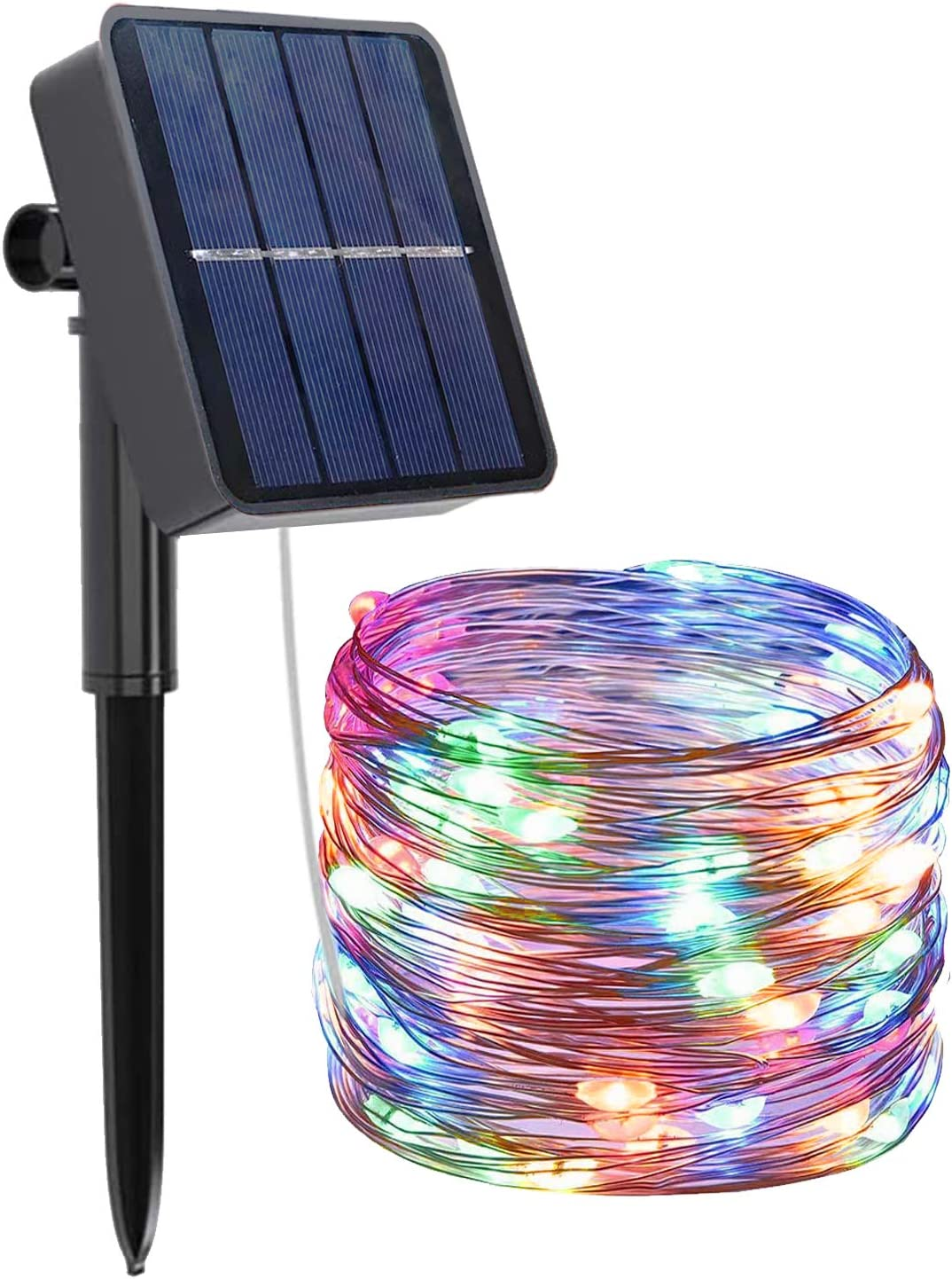 MYEMITTING Solar String Lights Outdoor Waterproof, 72FT 200 LED Solar Powered Fairy Lights, Decoration Copper Wire Lights with 8 Modes for Patio Yard Trees Christmas Wedding Party Decor (Multicolor)