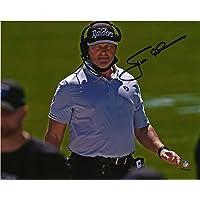 """$189 » Jon Gruden Las Vegas Raiders Autographed 8"""" x 10"""" Horizontal Scowl Photograph - Autographed NFL Photos"""
