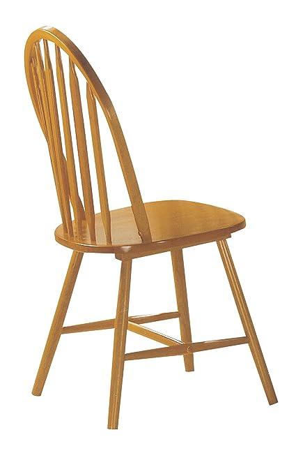 Ordinaire ACME 02482OAK Set Of 4 Farmhouse Arrow Back Windsor Side Chair, Oak Finish
