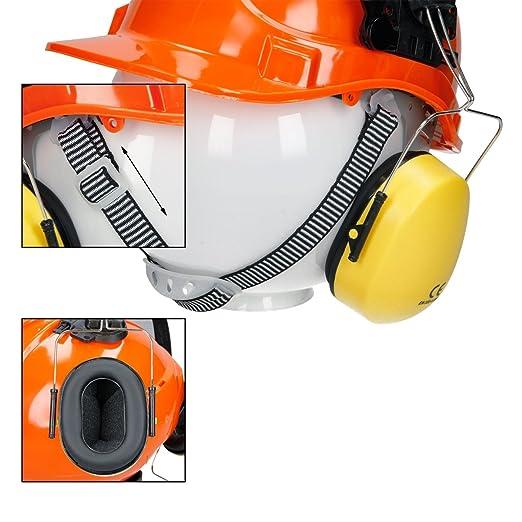 ECD Germany Casco Forestal con Careta de Seguridad y Conchas auditivas Protección auditiva y Facial: Amazon.es: Hogar