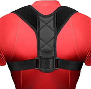 Back Posture Corrector for Men and Women, Adjustable Upper Back Brace Improve Posture-Clavicle Support Slouching & Hunching-Upper Pain Relief Neck with Comfortable Underarm Pads