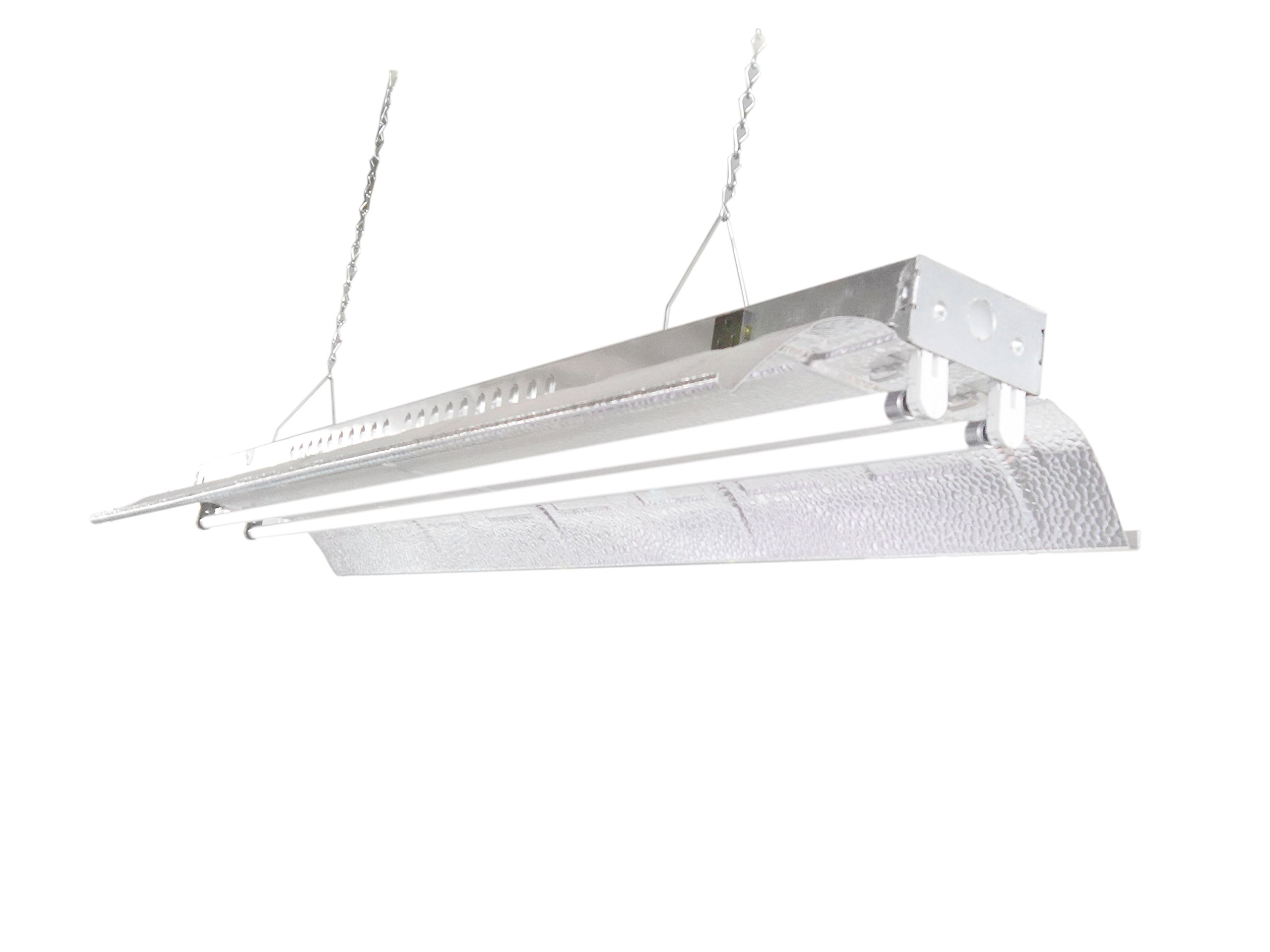 T5 HO Grow Light - 4 FT 2 Lamps - DL842 Fluorescent Hydroponic Indoor Fixture Bloom Veg Daisy Chain with Bulbs