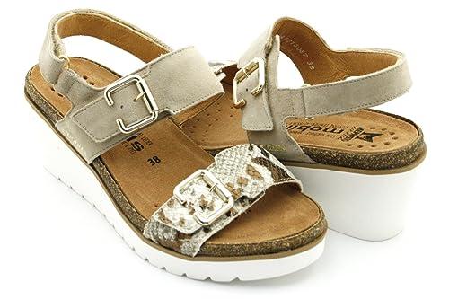 400d2473dc Mephisto - Sandalias de Vestir para Mujer Beige Size  EU 42 ITA 42 USA 12  CM ND  Amazon.es  Zapatos y complementos