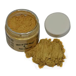 Slice of the Moon: Classic Gold Mica Powder 28g, Natural Mineral Mica, Cosmetic Grade for Lipstick Lip Gloss Bath Bombs Epoxy Resin Face Blush Powder Eye Pencil Dye Pigments Candle Making