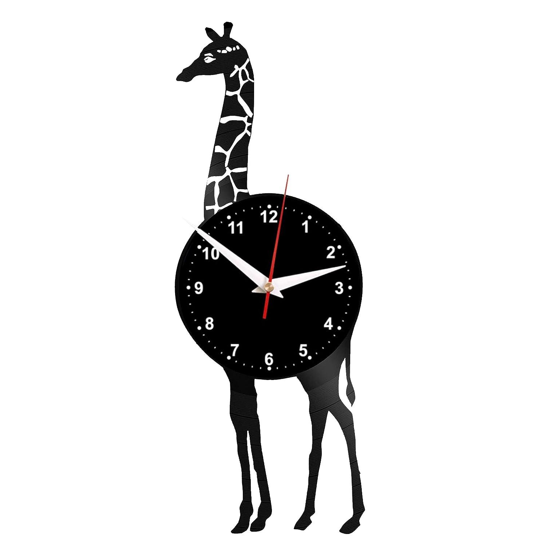 EVEVO - Reloj de Pared con diseño de Jirafa, Hecho a Mano: Amazon ...