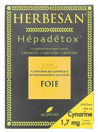 Amazon.com: Herbesan hépadétox 45 Cápsulas: Health ...
