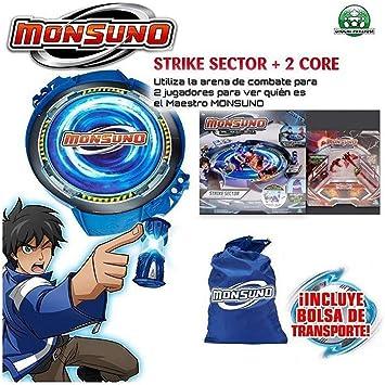 Monsuno - Strike Sector playset y 2 Cores (Giochi Preziosi 25035): Amazon.es: Juguetes y juegos
