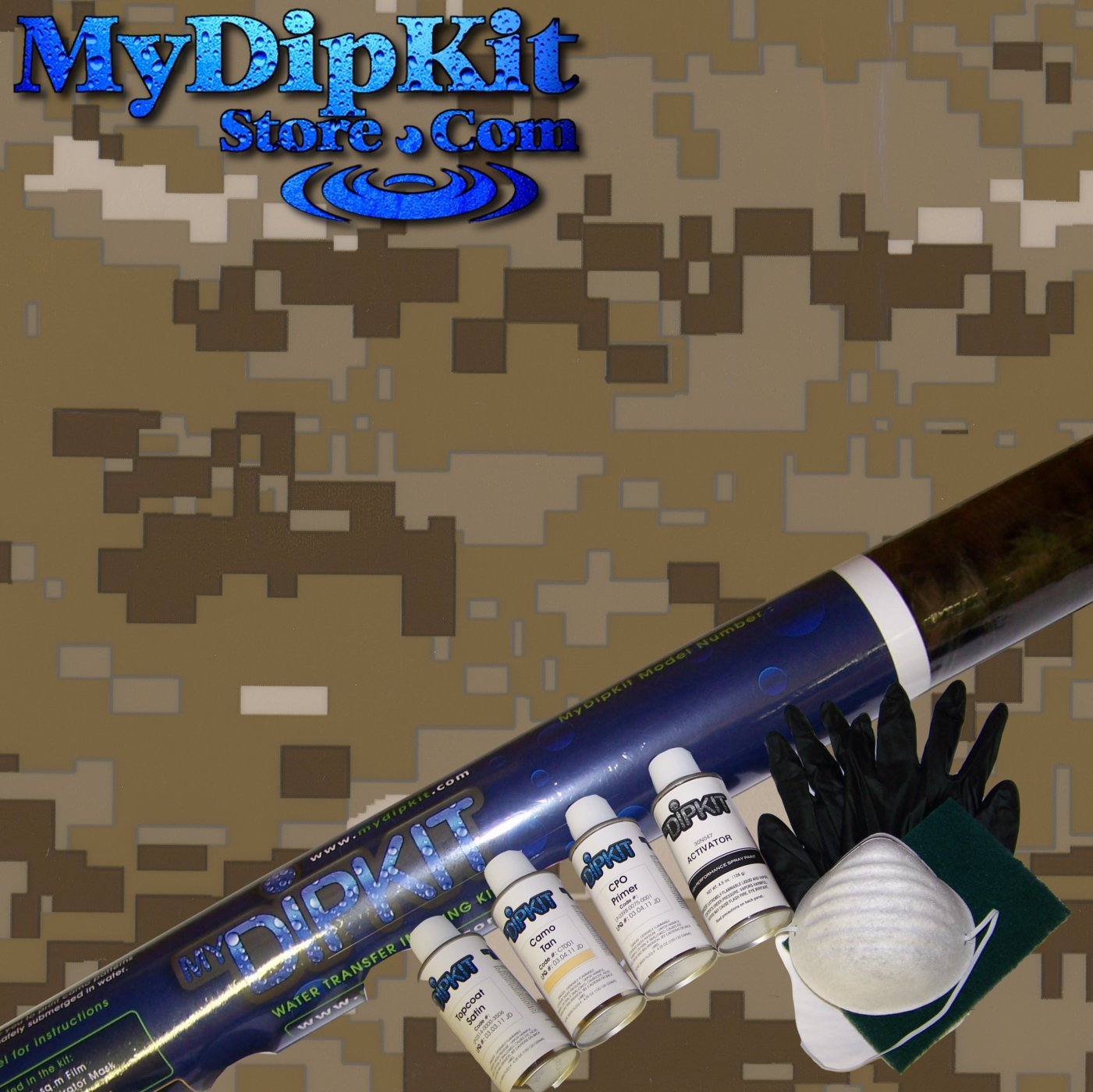 amazon com desert digital camouflage hydrographics kit mydipkit amazon com desert digital camouflage hydrographics kit mydipkit mc 821 my dip kit home kitchen