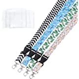 ECOHIP 4 Pack Lanyards for Women Cute Lanyard with ID Holder Fashion Name Badge Clips