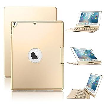 Funda para iPad 9.7 2018, Teclado para iPad de 6ª generación con Teclado, 7