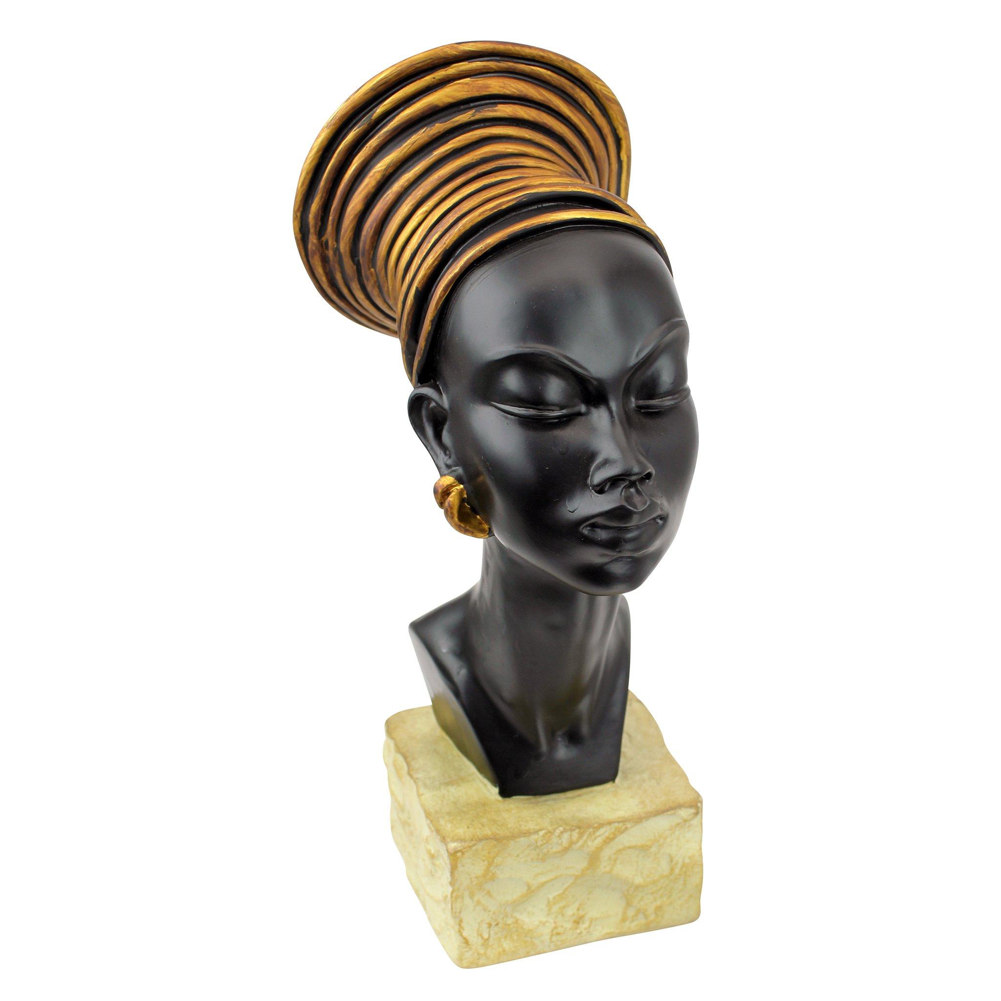 Design Toscano Nubian Kandake Sculptural Bust by Design Toscano
