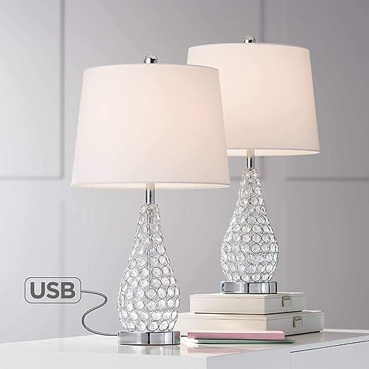 Amazon.com: Sergio acento chapado en cromo lámpara de mesa ...