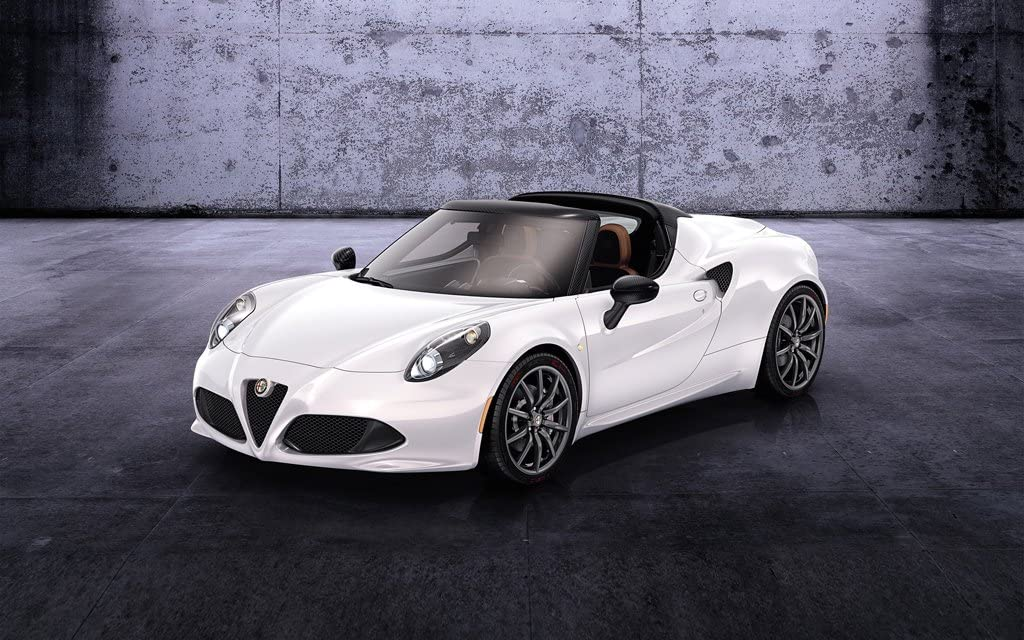 2014 Alfa Romeo 4C Spider Prototype 12X18 Metal Wall Art