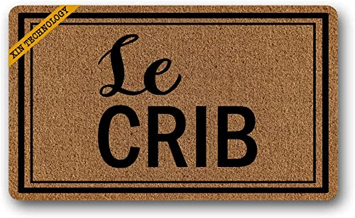 Artsbaba Doormat Le Crib Door Mat Rubber Non-Slip Entrance Rug Floor Mat Home Decor Indoor Mats 30 x 18 Inches