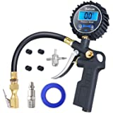 AstroAI Digital Tire Inflator with Pressure Gauge, 250 PSI Air Chuck and Compressor Accessories Heavy Duty with Rubber Hose a