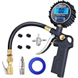 AstroAI Digital Tire Inflator with Pressure Gauge, 250 PSI Air Chuck and Compressor Accessories Heavy Duty with Rubber…