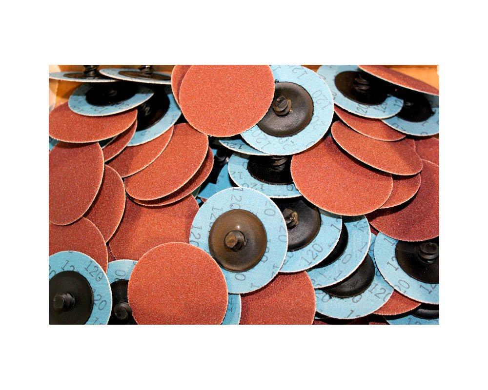 Car Builder Supply CBS-AOK1 Sand Loc Quick Change Typr R Premium Aluminum Oxide AO Grinding Sanding Disc 2'' 150pc Kit 40g 80g 120g by Car Builder Supply (Image #4)