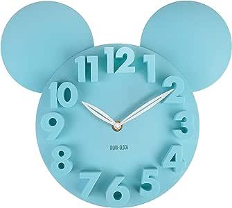 MEIDI CLOCK Modern Design Mickey Mouse Big Digit 3D Wall Clock Home Decor Decoration - Blue