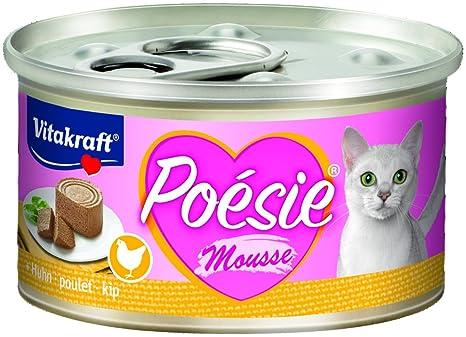 Vitakraft Comida Para Gatos Poesie Mousse, Pollo - 12 Latas