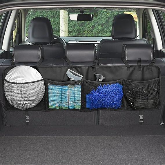 3-lagig Auto-Netztasche zwischen Auto-Organizer und R/ückenlehne ACHICOO Gep/äckhalter-Tasche