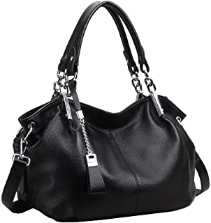 BIG SALE-AINIMOER Womens Soft Vintage Genuine Leather Tote ...
