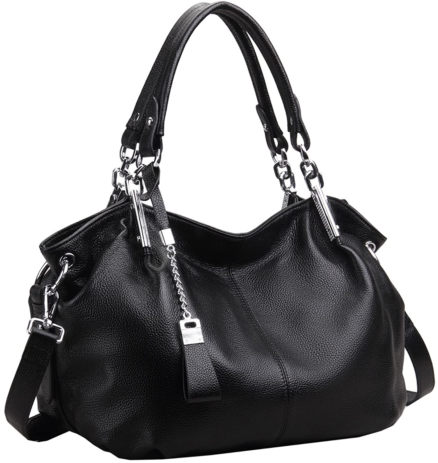 Black Hobo Bag With Silver Hardware | Bags More
