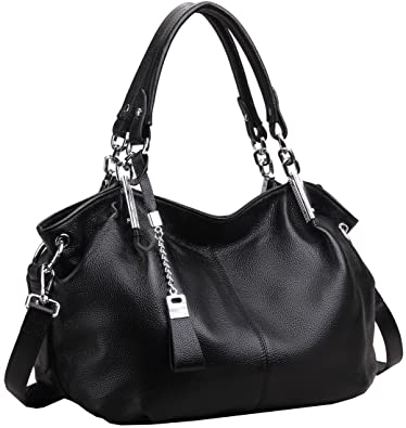 Amazon.com: Heshe Women's Leather Shoulder Handbags Hobo Handbag ...
