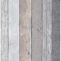 Hout Contact Papier Houten Behang Stick en Peel Zelfklevende Behang Houten Plank Contact Papier Hout Grijs Muur Papier…