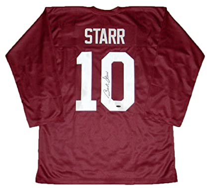 promo code b57ab f2c29 Autographed Bart Starr Jersey - #10 Throwback - Tristar ...