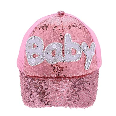 3f4d68825 amazingdeal Casual Baby Children Sun Hat Summer Baseball Letter Sequined  Boys Girls Cap