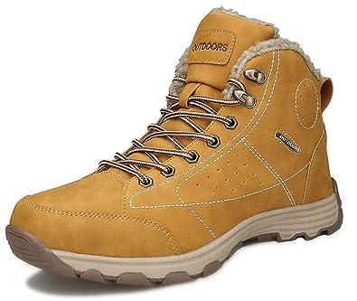 Stivali da Neve Uomo Trekking Scarpe Stivaletti Invernali Impermeabili Allineato Pelliccia Caloroso Outdoor Sneakers