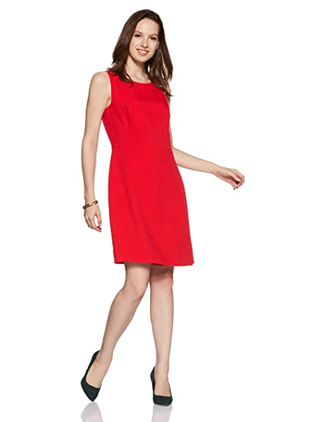 cdfdfe71 Tommy Hilfiger Women's A-Line Knee-Long Dress: Amazon.in: Clothing &  Accessories