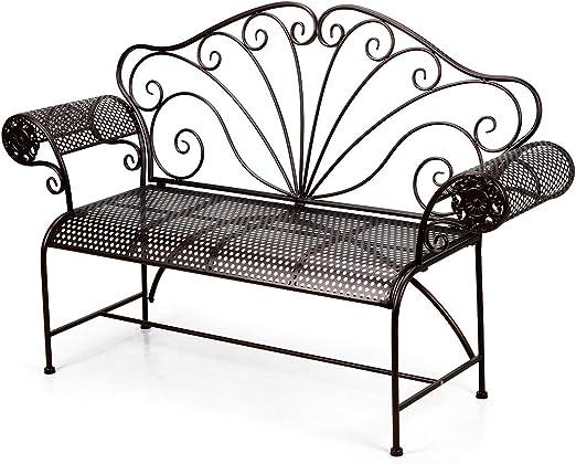ahhc banco jardín – Banqueta de hierro forjado 154 * 44 * 98 cm: Amazon.es: Jardín