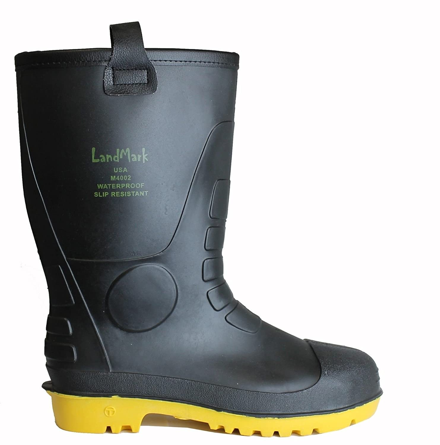 LM Mens Waterproof Fur Interior Rubber Sole Winter Snow Rain Boots Insulated