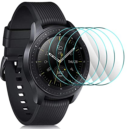 IVSO Samsung Galaxy Watch 2018 Screen Protector, [Scratch-Resistant] [No-Bubble ] 9H Hardness HD Clear Tempered Glass Screen Protector Samsung Galaxy ...