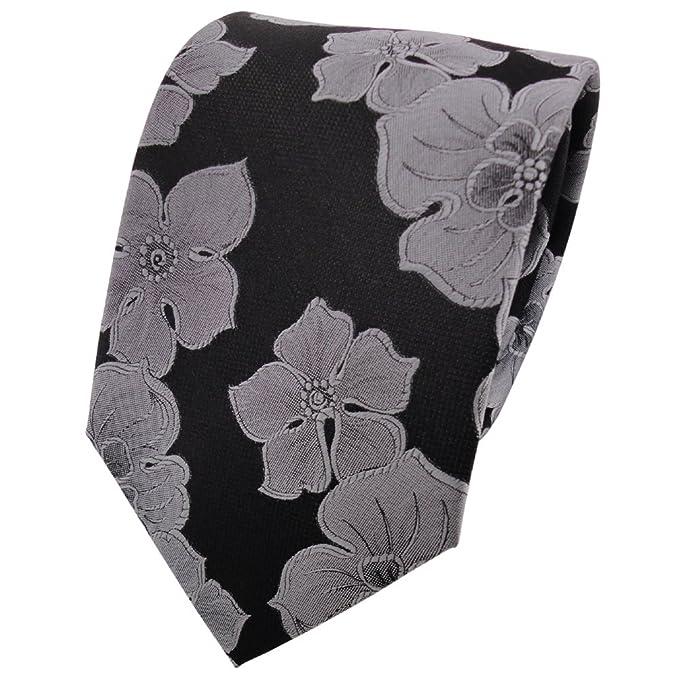 ohne Markenname Corbata de seda - negro gris plata modelada ...