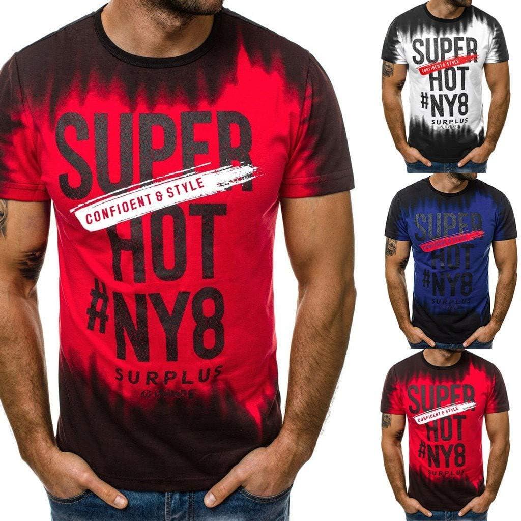 Barkoiesy Camisas Blusa Tops - con Estampado - Cuello Redondo - Deporte - BK050300: Amazon.es: Ropa y accesorios