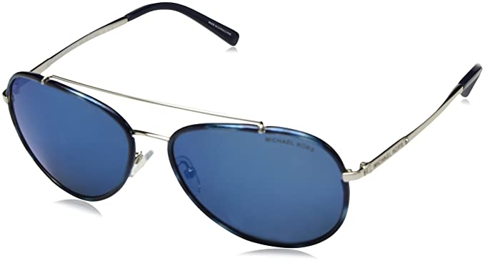 Amazon.com: Michael Kors mk1019 116755 Azul Marino/Silver ...