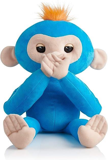 WowWee Fingerlings HUGS - Advanced Interactive Plush Baby Monkey Bella Pink