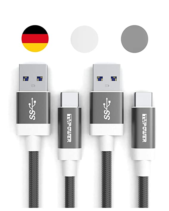 K17 2X USB Type C Kabel auf 3.0 A 0,3m Quick Charge Ladekabel für Samsung Galaxy S9 S8 Plus A8 2018 A7 A5 A3 2017 HTC U12 LG