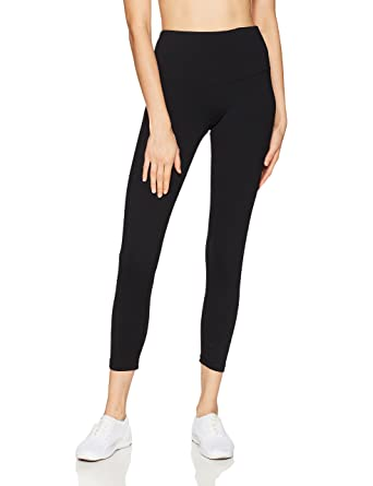 "faf401e73e Starter Women's 24"" Cropped Performance Workout Legging, Amazon  Exclusive, Black, ..."