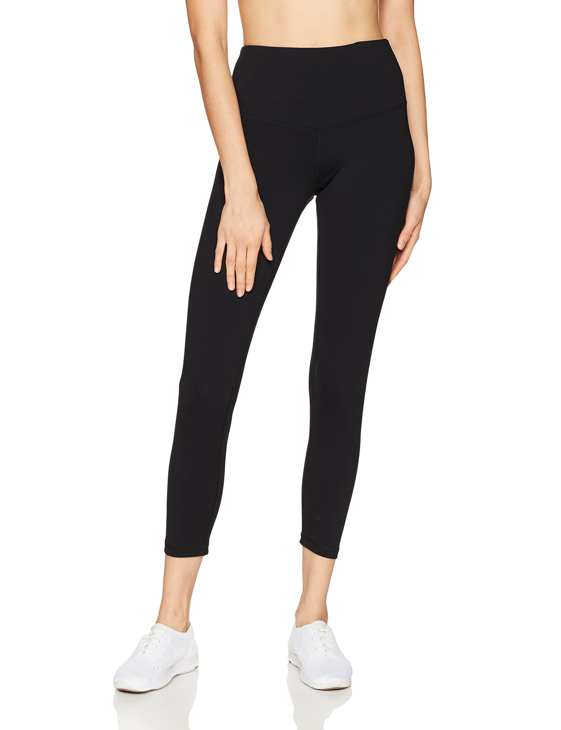 Starter Women's 24'' Cropped Performance Workout Legging, Prime Exclusive, Black, Extra Large