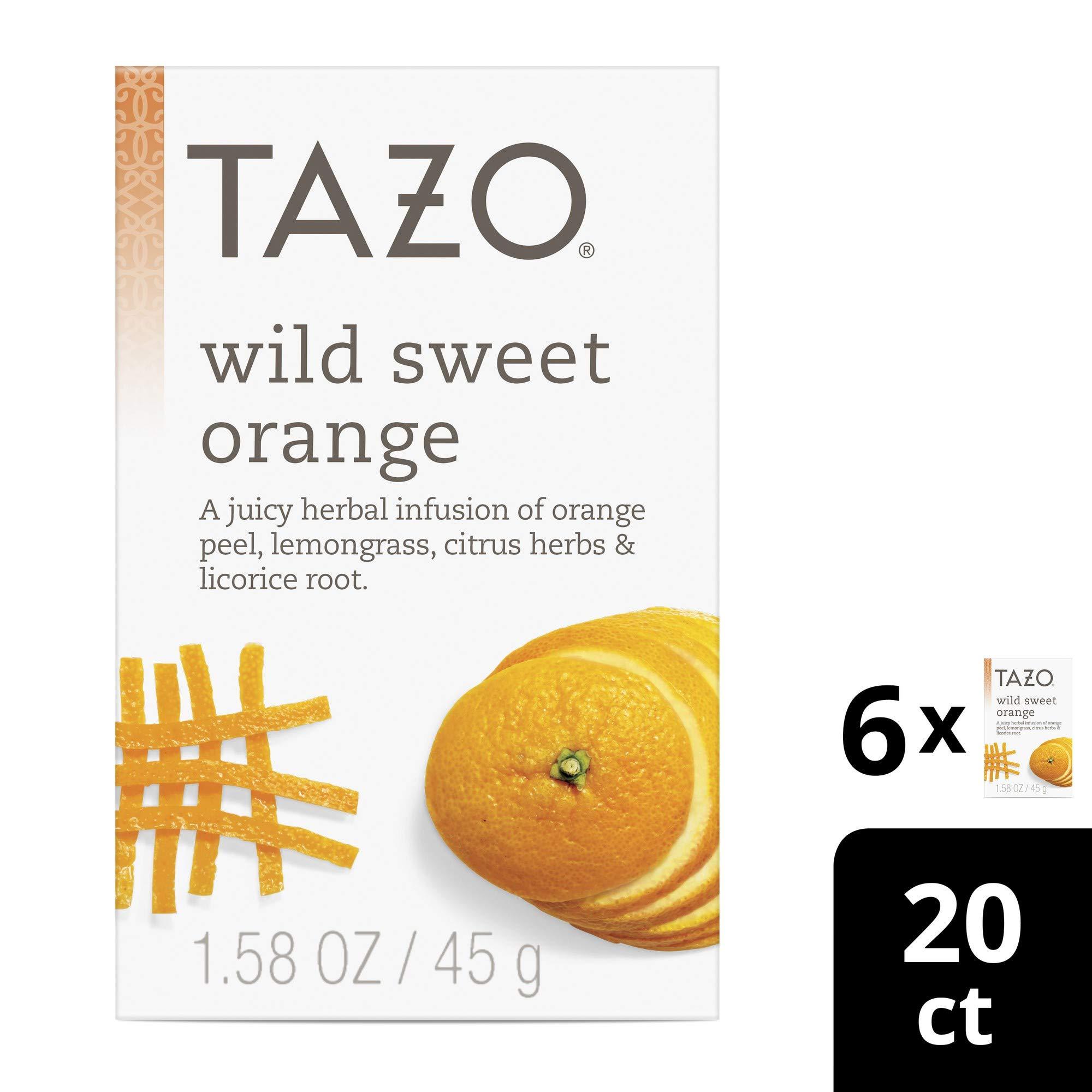 Tazo Wild Sweet Orange Herbal Tea Filterbags 20 ct, Pack of 6 by Tazo