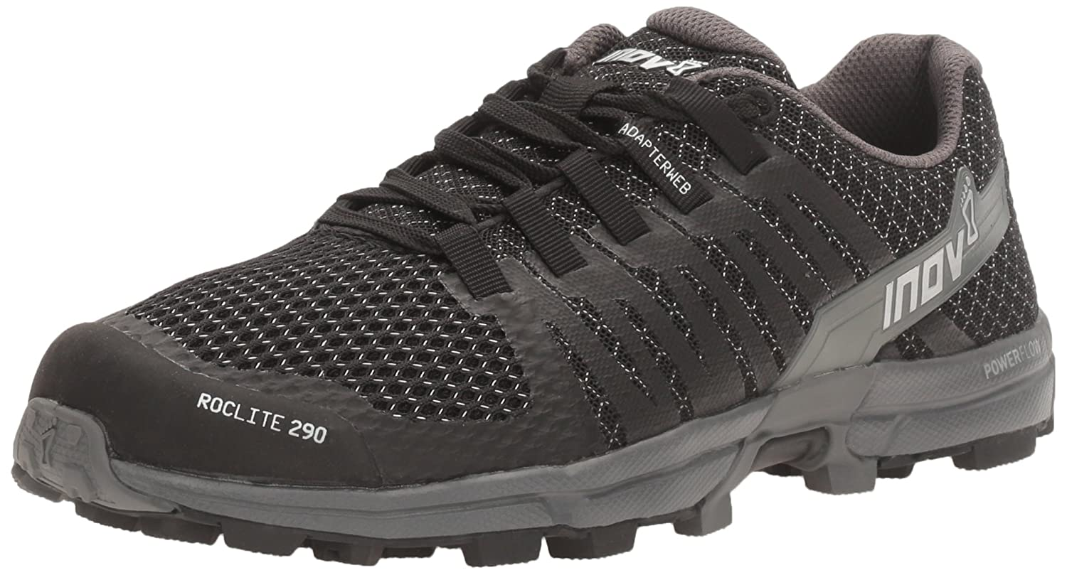 Inov-8 Women's Roclite 290 Trail Runner B01KIGYASS 8 M US|Black/Grey