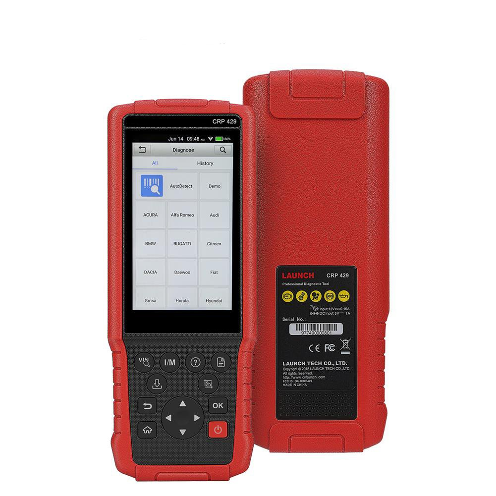 LAUNCH CRP429 OBD2 Scanner Diagnostic Scan Tool with All System Diagnoses and Service Functions of Injector Coding, IMMO Service and Oil Reset, EPB, BMS, SAS, DPF (Advanced Version of CRP Touch Pro)