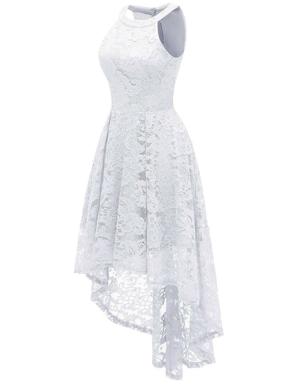 59c60371fd1 Dressystar Rockabilly Robe de Cocktail Femme Asymétrique en Dentelle   Amazon.fr  Vêtements et accessoires