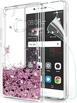 LeYi Funda Huawei P9 Lite Silicona Purpurina Carcasa con HD ...