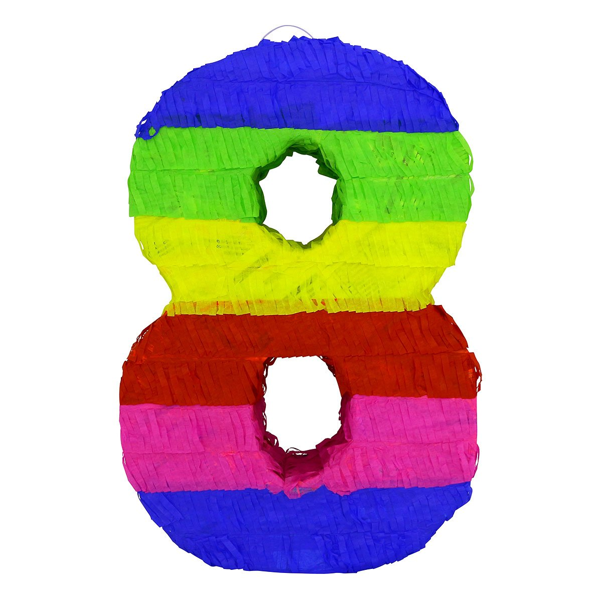 LYTIO - Multicolor Paper 3D Number Eight Pinata (Piñata) – Great for Any Party, Décor, Photo Prop.